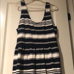 Navy/White striped Dress
